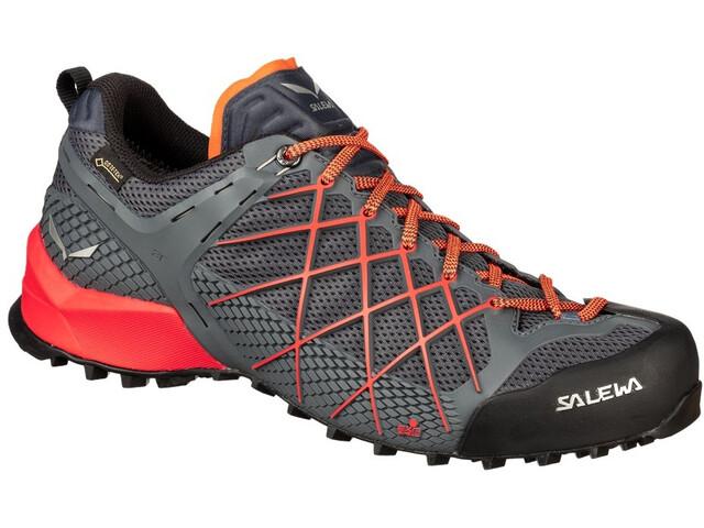 separation shoes 97936 d5c87 SALEWA Wildfire GTX Schuhe Herren ombre blue/fluo orange